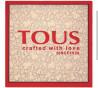 Foulard Kaos Icon en color beige y rojo de Tous
